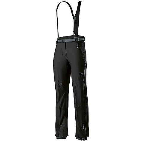 Ski On Sale. Free Shipping. Mammut Women's Base-Jump Touring Pant DECENT FEATURES of the Mammut Women's Base Jump Touring Pant Double-weave ski touring pants with abrasion-resistant outer material and brushed reverse side for extra warmth on cold days Water-resistant outer material Unsurpassed comfort and fast-drying time due to 3XDRY ColdBlack makes dark colors behave almost like light colors, and absorbs up to 80% of the sunlight Edge and crampon protection with robust reinforcement material Integrated gaiters High-cut waist protects kidneys 2 side pockets, 1 seat pocket Side ventilation with mesh inserts Pre-shaped knees Regular Fit Areas of Use: Skitouring / Backcountry Skiing, Classical Alpinism, Mixed- and Iceclimbing The SPECS Weight: 600 g Fabric: Schoeller-FTC 12707 91% Polyamide (Nylon), 9% Elastane, Schoeller-FTC 76% Polyamide (Nylon), 14% Kevlar, 10% Polyurethane - $159.99