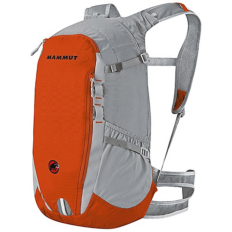 Climbing Free Shipping. Mammut Lithium Z 20 Pack DECENT FEATURES of the Mammut Lithium Z 20 Main compartment with zip Front zip pocket Zip pocket Side stretch pockets Stowable walking stick holder 3D Air Mesh hip belt with pockets in the 15 and 20 liter versions Hydration system compatible 3D EVA foam full-contact back system Reflective straps The SPECS Volume: 20 liter Weight: 640 g Back System: Contract Fabric: Main: Nylon 70D 3Line Ripstop, Nylon 100D Diamond Ripstop - $99.95