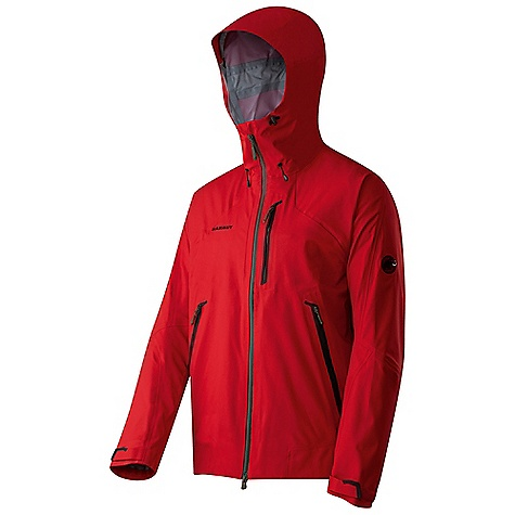 Climbing On Sale. Free Shipping. Mammut Men's Masao Jacket DECENT FEATURES of the Mammut Men's Masao Jacket Robust weather protection jacket for reliable protection in high mountain terrain New hood design, can be adjusted vertically and horizontally, helmet-compatible 2 Front pockets with bonded, watertight zippers 1 Bonded front pocket Underarm ventilation with spray proof 2-way zip Watertight 2-way zip with inner flap Drawcord hem, adjustable using one hand Areas of Use: Classical Alpinism, Expeditions, Multipitch Rock-climbing The SPECS Weight: 570 g Main Fabric: DRYtech Premium 3-Layer Stretch Face Material: 100% Polyester Membrane: 100% Polyurethane Backing: 100% Polyamide - $194.99
