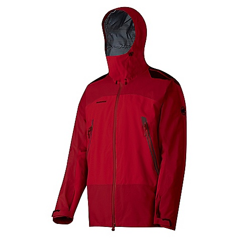 Camp and Hike On Sale. Free Shipping. Mammut Men's Thrilltrip Jacket DECENT FEATURES of the Mammut Men's Thrilltrip Jacket Robust and reinforced weather protection jacket offering reliable protection in high alpine terrain New hood design, can be adjusted vertically and horizontally, helmetcompatible 2 large front pockets with 2-way zips Underarm ventilation with spray proof 2-way zip Drawcord hem, adjustable using one hand Shoulder print Pre-shaped sleeves with Velcro cuffs Spray proof YKK zippers Areas of Use: Classical Alpinism, Backpacking, Expeditions The SPECS Weight: 500 g Main Fabric: Gore-Tex Pro Shell 3-Layer Face Material: 100% Polyamide Membrane: 100% Polytetrafluorethylene Backing: 100% Polyamide - $369.99