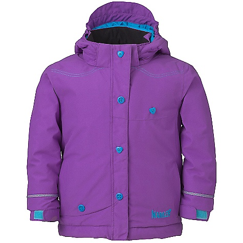 Free Shipping. Marker Girls' Belle Jacket DECENT FEATURES of the Marker Girls' Belle Jacket Strategically Seam Sealed Elasticized Removable Storm Hood with Velcro Adjustment Tab Internal Grow Cuff Mitten Clip Decorative Top Stitch Multiple Exterior and Interior Pockets Adjustable Cuffs with Velcro Closure Custom Pop Color Trims YKK Zippers CPSIA Approved The SPECS 100% Polyester Twill 10.000mm Waterproof 5.000mm Breathable Windproof 156g/m2 Brushed Tricot Power Mesh Taffeta 220 GM Body 160 GM Sleeve 80 GM Hood CB Length: 18in. - $128.95