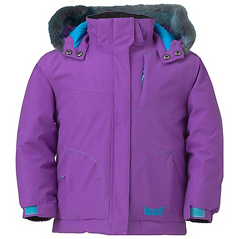 Free Shipping. Marker Girls' Jasmine Jacket DECENT FEATURES of the Marker Girls' Jasmine Jacket Strategically Seam Sealed Elasticized Removable Storm Hood with Velcro Adjustment Tab Internal Grow Cuff Mitten Clip Removable Faux Fur Trim Multiple Exterior and Interior Pockets Adjustable Cuffs with Velcro Closure YKK Zippers CPSIA Approved The SPECS 100% Polyester Twill 10.000mm Waterproof 5.000mm Breathable Windproof 156g/m2 Brushed Tricot Power Mesh Taffeta 220 GM Body 160 GM Sleeve 80 GM Hood CB Length: 17.5in. - $134.95