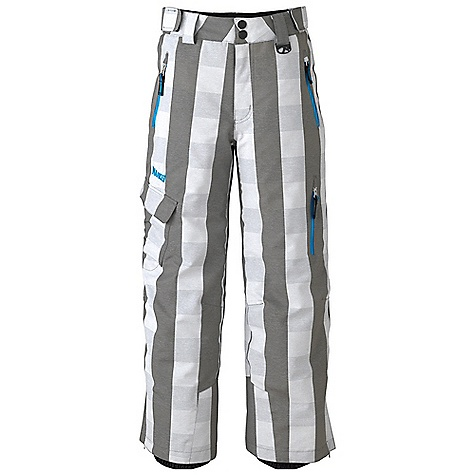 Free Shipping. Marker Boys' Sabre Pant DECENT FEATURES of the Marker Boys' Sabre Pant Strategically Seam Sealed Adjustable External Velcro Waistband Tabs Lower Leg Gusset with Internal Powder Cuff and Gripper Elastic Scuff Guards Multiple Exterior Pockets Articulated Knees Relaxed Fit YKK Zippers CPSIA Approved 25in. Inseam The SPECS Nylon/Polyester Plaid 10.000mm Waterproof Breathable Windproof 207g/m2 Brushed Tricot Power Mesh Taffeta 80 GM - $159.50