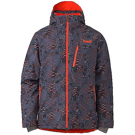 Free Shipping. Marker Men's Vertigo Print Jacket DECENT FEATURES of the Marker Men's Vertigo Print Jacket Fully Seam Sealed Waterproof Powder Skirt with Custom Snaps, Gripper Elastic and Taffeta Panel Helmet Ready Zip Off Storm Hood Underarm Vents with YKK Zippers and Power Mesh Backing Multiple Exterior and Interior Pockets Adjustable Cuffs with Velcro Closure Internal Lycra Cuff with Thumbhole YKK Zippers The SPECS 100% Polyester Twill Print 10.000mm Waterproof 5.000mm Breathable Windproof 156g/m2 Brushed Tricot Power Mesh Taffeta 100 GM Body 80 GM Sleeves 40 GM Hood CB Length: 32in. - $299.95
