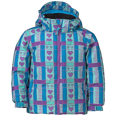 Free Shipping. Marker Girls' Ariel Jacket DECENT FEATURES of the Marker Girls' Ariel Jacket Strategically Seam Sealed Elasticized Removable Storm Hood with Velcro Adjustment Tab Internal Grow Cuff Mitten Clip Multiple Exterior and Interior Pockets Adjustable Cuffs with Velcro Closure YKK Zippers CPSIA Approved The SPECS 100% Polyester Twill Print 10.000mm Waterproof 5.000mm Breathable Windproof 156g/m2 Brushed Tricot Taffeta Power Mesh 220 GM Body 160 GM Sleeve 80 GM Hood CB Length: 18in. - $144.95