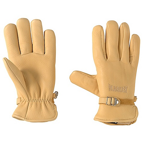 Hunting Free Shipping. Marker Montana Glove DECENT FEATURES of the Marker Montana Glove Adjustable Cinch Back Wrist Strap Custom Marker Embroidery Made in USA The SPECS Genuine Deer Skin Leather Soft/Warm Pile - $88.95