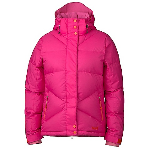 Free Shipping. Marker Women's Taylor Down Jacket DECENT FEATURES of the Marker Women's Taylor Down Jacket Waterproof Powder Skirt with Custom Snaps, Gripper Elastic & Taffeta Panel - For Ultimate Snow Protection Zip Off Storm Hood Multiple Exterior and Interior Pockets Adjustable Cuffs with Velcro Closure - For Custom Fit & Snow Protection Internal Lycra Cuffs with Thumbholes YKK Zippers - $279.95