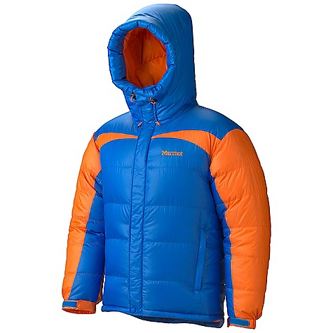 Free Shipping. Marmot Men's Greenland Baffled Jacket FEATURES of the Marmot Men's Greenland Baffled Jacket Large Inside Zip Pocket 800 Fill Power Goose Down Baffled Construction Inside Water Bottle Pocket Attached Hood with Drawcord Hood Muff Angel - Wing Movement Zippered Handwarmer Pockets Down-Filled Draft Tube Adjustable Velcro/Elastic Cuffs Inside Zip Stuff Sack Pocket - $449.95