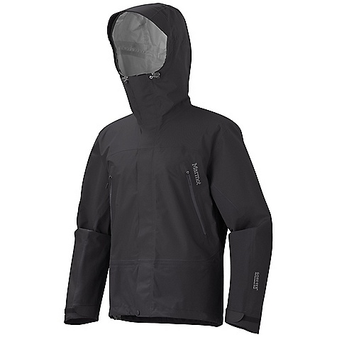 On Sale. Free Shipping. Marmot Men's Spire Jacket DECENT FEATURES of the Marmot Men's Spire Jacket Gore-Tex Fabric. Guaranteed to Keep You Dry 100% Seam Taped ERG Hood Adjustment System Integrated Laser - Drilled Pocket Backing for Enhanced Breathability Helmet Compatible Gale - Force Hood with Laminated Wire Brim PitZips Pack Pockets with Water-resistant Zippers Zip-Off Powder Skirt Internal Mesh Storage Pocket Elastic Draw Cord Hem Dri-Clime Lined Chin Guard Angel-Wing Movement The SPECS Weight: 1 lb 9 oz / 708.7 g Center Back Length: 29in. Fit: Regular Gore-Tex Products 3L 100% Polyester 4.9 oz/yd - $278.99