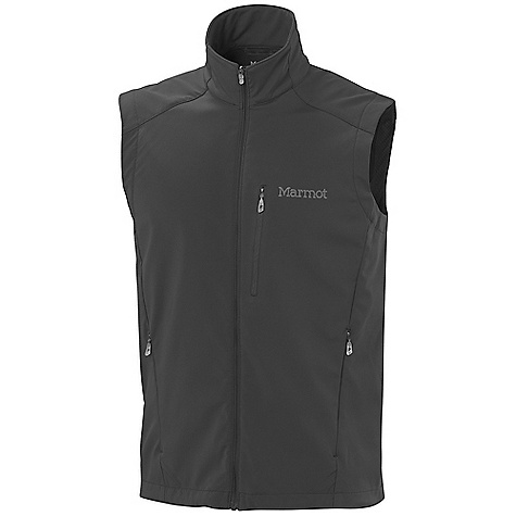 The Men's Approach Vest by Marmot. Based on our popular Approach Jacket, this M3 Softshell vest is soft, stretchy, and perfect for cool weather outings when core coverage is what's called for. Zippered pockets store your essentials and warm your hands while you're at rest, and reflective logos stand out at night. Features of the Marmot Men's Approach Vest Marmot m3 Softshell Water Repellent and Breathable Zippered Chest Pocket Zippered handwarmer Pockets Elastic Drawcord hem - $94.95