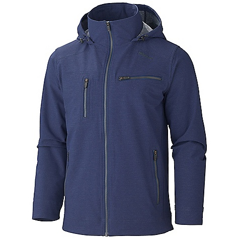 Free Shipping. Marmot Men's E Line Jacket DECENT FEATURES of the Marmot Men's E Line Jacket Marmot M3 Softshell Water Repellent and Breathable Zippered Hand Pockets Zippered Chest Pockets Interior Touch Media Pocket Interior Zippered Pocket The SPECS Weight: 1 lb 7.3 oz / 660.5 g Center Back Length: 28.75in. Fit: Regular Softshell Double Weave: 69% Nylon, 22% Polyester, 9% Elastane 6.4 oz/yd - $164.95