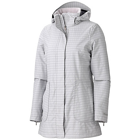 On Sale. Free Shipping. Marmot Women's Sassy Jacket DECENT FEATURES of the Marmot Women's Sassy Jacket Marmot MemBrain 2 Layer Waterproof/ Breathable Fabric 100% Seam Taped Zip-Off Hood Zippered Hand Pockets Zip Cuff Closure Interior Zippered Pocket Interior Airline Ticket Pocket Interior Hood Pocket DriClime Lined Collar and Chin Guard The SPECS Weight: 1 lb 6.4 oz / 635 g Material: MemBrain 2L 82% Nylon, 18% PolyesterDobby 4.5 oz/yd Center Back Length: 30.5in. Fit: Regular - $118.99