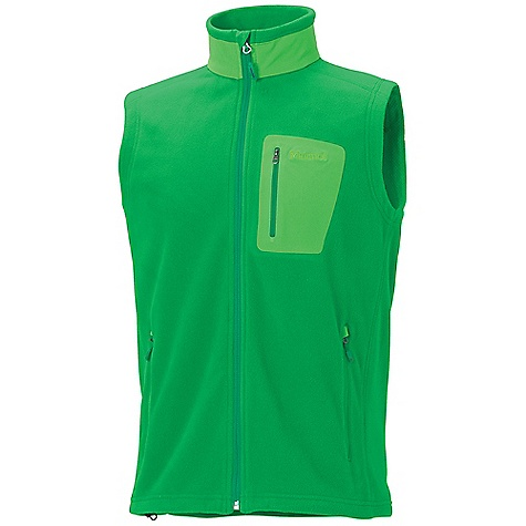The Men's Reactor Vest by Marmot. For a light-weight extra layer of plush warmth, the 100 wt. micro-fleece Reactor Vest is unbeatable. Features of the Marmot Men's Reactor Vest Polartec Classic 100 micro Flat lock Construction Zippered handwarmer Pockets Bonded Zippered Chest Pocket Wind Flap Behind Front Zipper with Chin Guard Elastic Drawcord hem - $74.95