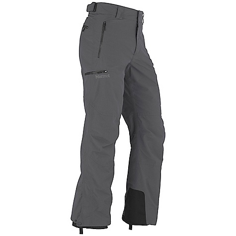 On Sale. Free Shipping. Marmot Men's Tamarack Pant DECENT FEATURES of the Marmot Men's Tamarack Pant Marmot MemBrain Waterproof / Breathable Fabric 100% seam taped 2-layer construction Hand Pockets with Water Resistant Zipper Cargo Pocket with Water Resistant Zipper Back Pocket with Water Resistant Zipper Adjustable Waist with Snap Closure and Zip Fly Cordura Scuff Guard Anatomic Articulation Zones Internal Gaiters with Gripper Elastic Boot Loops Ankle Zippers Standard Cut The SPECS Weight: 1 lb 6 oz / 623.7 g Fit: Regular MemBrain 10 2L 100% Nylon Plain Weave 4.1 oz/yd - $103.99