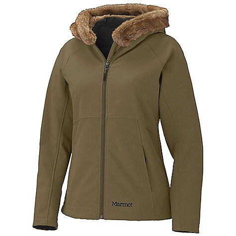 On Sale. Free Shipping. Marmot Women's Furlong Jacket DECENT FEATURES of the Marmot Women's Furlong Jacket Marmot M2 Softshell Wind Resistant, Water Repellent, and Breathable Attached Faux Fur Lined Hood Zippered Handwarmer Pockets The SPECS Weight: 1 lb 9.8 oz / 731.4 g Center Back Length: 25in. Fit: Regular Softshell Bonded 85% Nylon 15% Elastane Stretch 9.6 oz/yd 100% Modacrylic Faux Fur 15 oz/yd - $106.99