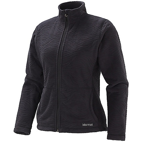 On Sale. Free Shipping. Marmot Women's Groovy Jacket (Fall 2010) DECENT FEATURES of the Marmot Women's Groovy Jacket 100% Polyester Fleece with Burn Out Pattern Handwarmer Pockets-Soft Fabric to Warm Hands Sized Specifically for Women - To Fit Your Body, Not a Smaller Men's Version The SPECS Weight: 1 lb 0.3 oz / 462.1 g Center Back Length: 24.75in. / 62.9 cm Materials: 100% Polyester Burnout Fleece 10.6 oz/yd - $69.99