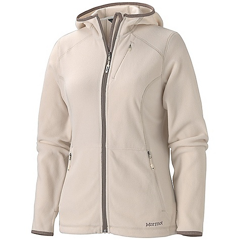 On Sale. Free Shipping. Marmot Women's Flashpoint Hoody DECENT FEATURES of the Marmot Women's Flashpoint Hoody Polartec Classic 100 Micro Attached Hood Chest Pocket with Concealed Zipper Zippered Handwarmer Pockets Lycra Bound Cuffs with Integrated Thumb Holes Interior Electronics Pocket Wind Flap Behind Front Zipper with Chin Guard Elastic Draw Cord Hem The SPECS Weight: 10.9 oz / 309 g Center Back Length: 26in. Fit: Regular Fit Material: Polartec Classic 100 100% Polyester Micro Fleece 4.6 oz/yd - $76.99