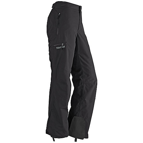 Free Shipping. Marmot Women's Tamarack Pant DECENT FEATURES of the Marmot Women's Tamarack Pant Marmot MemBrain Waterproof/Breathable Fabric 100% seam taped 2-layer construction Hand Pockets with Water Resistant Zipper Cargo Pocket with Water Resistant Zipper Adjustable Waist with Snap Closure and Zip Fly Cordura Scuff Guard Anatomic Articulation Zones Internal Gaiters with Gripper Elastic Boot Loops Ankle Zippers Standard Cut The SPECS Weight: 1 lb 9.1 oz / 711.6 g Material: MemBrain10 2L 100% Nylon 5.0 oz/yd - $174.95