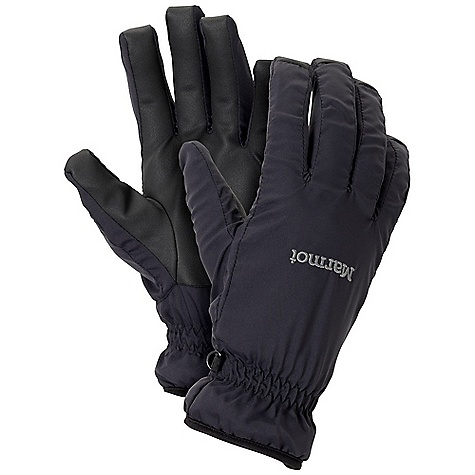 Marmot DriClime Glove DECENT FEATURES of the Marmot Dri-Clime Glove Water and Wind Resistant Stretch Shell Fabric PU Reinforced Palm Dri-Clime Bi-Component Wicking Lining Packable The SPECS Weight: 2 oz / 56.7 g Reinforcement: Polyurethane 0.7mm Lining: Dri-Clime 3-Dimentional Wicking Lining 100% Nylon DWR 2.3 oz/yd - $29.95
