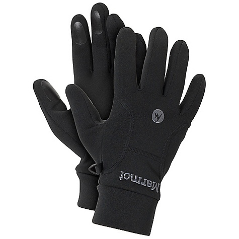 Marmot Power Stretch Glove DECENT FEATURES of the Marmot Power Stretch Glove 3-Dimensional Wickin g Free-Flow Stretch Fit Grip Zone Finger Tips The SPECS Weight: 1.6 oz / 45.4 g Polartec Power Stretch 91% Polyester 9% Elastane 5.9 oz/yd - $29.95