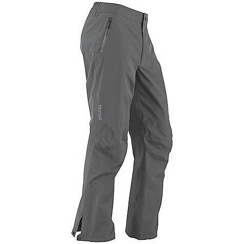 Free Shipping. Marmot Men's Minimalist Pant FEATURES of the Marmot Men's Minimalist Pant Gore-Tex with Paclite Technology 100% Seam Taped Hand Pockets with Water Resistant Zipper Elastic Waist with Snap Closure and Zip Fly Articulated Knees Ankle Zippers - $164.95