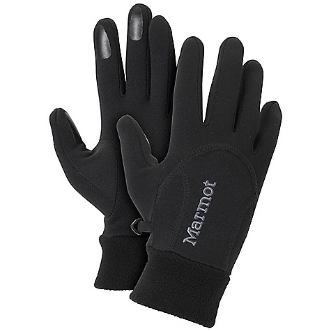 Marmot Women's Power Stretch Glove DECENT FEATURES of the Marmot Women's Power Stretch Glove 3-Dimensional Wicking Free-Flow Stretch Fit Grip Zone Finger Tips The SPECS Weight: 1.3 oz / 36.9 g Polartec Power Stretch 91% Polyester 9% Elastane 5.9 oz/yd - $29.95