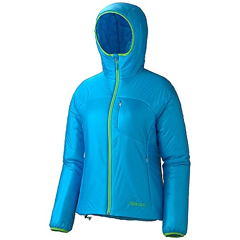 On Sale. Free Shipping. Marmot Women's Dena Jacket DECENT FEATURES of the Marmot Women's Dena Jacket Ultralight Fabric Thermal R Eco Insulation Zippered Handwarmer Pockets Invisible Zip Chest Pocket Lycra Bound Cuffs Inside Zip Pocket DriClime Lined Chin Guard Elastic Draw Cord Hem Angel-Wing Movement The SPECS Weight: 12.8 oz / 362.9 g Center Back Length: 25.75in. Fit: Athletic 100% Nylon Double Rip 0.9 oz/yd - $122.99