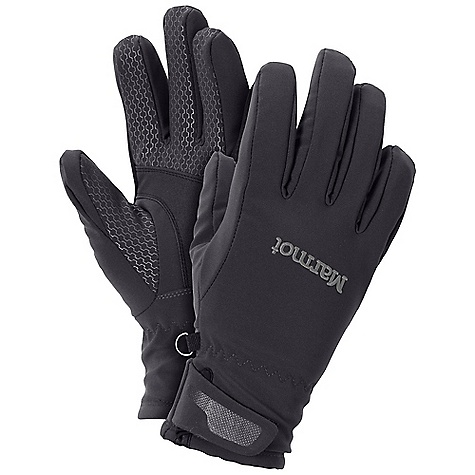 Free Shipping. Marmot Women's Glide Softshell Glove FEATURES of the Marmot Women's Glide Softshell Glove Marmot M2 Softshell Fabric Free-Flow Stretch Fit PBR Palm Bulk Reduction Construction TPU Print on Palm and Fingers Velcro wrist Closure Nose wipe Water-resistant Wind-resistant - $49.95