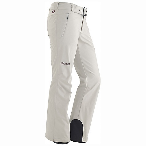 Free Shipping. Marmot Women's Davos Pant DECENT FEATURES of the Marmot Women's Davos Pant Marmot M1 Softshell Windproof, Waterproof, and Breathable 4 way Stretch Fabric Handwarmer Pockets with Concealed Zippers Adjustable Snap Closure Waist with Fly Zip Internal Gaiters with Gripper Elastic Articulated Knees Cordura Scuff Guard The SPECS Weight: 1 lb 6.1 oz / 626.5 g Fit: Slim Softshell WPB 88% Nylon 12% Elastane 9.2 oz/yd - $164.95
