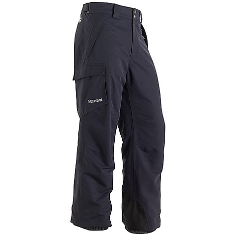 Free Shipping. Marmot Men's Motion Insulated Pant FEATURES of the Marmot Men's Motion Insulated Pant Marmot MemBrain Waterproof/Breathable Fabric 100% seam taped 2-layer construction Thermal R Insulation Zippered Hand Pockets Flapped Cargo Pocket Adjustable Snap Closure Waist with Fly Zip Internal Gaiters with Gripper Elastic Articulated Knees - $164.95