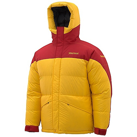 Free Shipping. Marmot Men's 8000M Parka DECENT FEATURES of the Marmot Men's 8000M Parka Marmot MemBrain Waterproof/Breathable Fabric 800 Fill Power Goose Down Reinforced Shoulders and Elbows Elastic Draw Cord Waist and Hem Gripper Elastic Powder Skirt Baffled Construction Stuff and Storage Sack Included Articulated Elbows Adjustable Velcro/ Elastic Cuffs Zippered Handwarmer Pockets Angel-Wing Movement Attached Hood with Drawcord Hood Muff Down-Filled Draft Tube The SPECS Weight: 3 lbs 1 oz / 1389.1 g Fit: Regular Center Back Length: 30in. Membrain 2L 100% Nylon Ripstop 3.3 oz/yd MemBrain 2L 100% Nylon 4.0 oz/yd - $599.95
