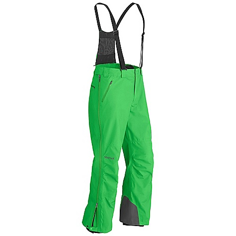 Free Shipping. Marmot Men's Spire Pant DECENT FEATURES of the Marmot Men's Spire Pant Gore-Tex Fabric. Guaranteed to Keep You Dry 100% Seam Taped - 3 Layer Construction Full Side Zip with Water Resistant Zips Snap Closure Waist with Zip Fly Hand Pockets with Water Resistant Zipper Back Pocket with Water Resistant Zipper Removable Adjustable Suspenders Internal Gaiter Articulated Knees The SPECS Weight: 1 lb 9 oz / 708.7 g Fit: Relaxed Gore-Tex Products 3L 100% Polyester 4.9 oz/yd - $359.95