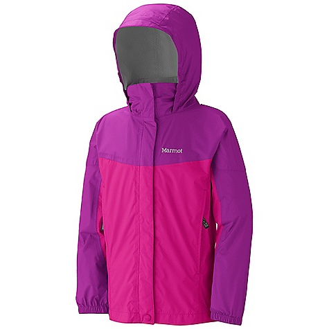 Free Shipping. Marmot Girls' Precip Jacket DECENT FEATURES of the Marmot Girls' Precip Jacket PreCip Dry Touch Technology, Waterproof/Breathable 100% Seam Taped Full Visibility Roll-Up Hood with Integral Collar Pack Pockets Double Storm Flap Over Zipper with Snap/Velcro Closure Dri-Clime Lined Chin Guard Angel-Wing Movement The SPECS Weight: 9.4 oz / 266.5 g Center Back Length: 22.75in. Fit: Regular PreCip 2.5 100% Nylon Ripstop 2.9 oz/yd - $64.95