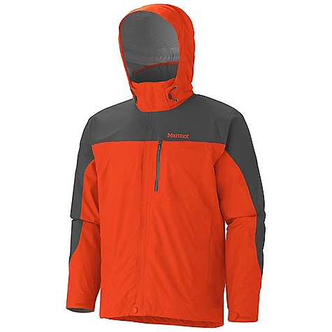 Free Shipping. Marmot Men's Oracle Jacket DECENT FEATURES of the Marmot Men's Oracle Jacket Marmot MemBrain Strata Waterproof / Breathable Fabric 100% Seam Taped Zip-Off Hood PitZips Hand Pockets Chest Pocket with Water-resistant Zipper Stretch Anatomic Articulation Dri-Clime Lined Collar and Chin Guard Dri-Clime Lined Cuff Elastic Draw Cord Hem Angel-Wing Movement The SPECS Weight: 1 lb 0.2 oz / 459.3 g Center Back Length: 29.5in. Fit: Regular MemBrain Strata 100% Nylon Ripstop 3.0 oz/yd MemBrain Strata 100% Nylon Stretch 3.8 oz/yd - $184.95