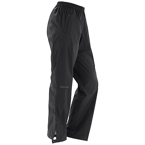 Free Shipping. Marmot Women's PreCip Pant DECENT FEATURES of the Marmot Women's PreCip Pant PreCip Dry Touch Technology, Waterproof/Breathable 100% Seam Taped Ankle Side Zips with Snap Tabs at Cuffs Zip Front Hand Pockets Elastic Waist with Draw Cord The SPECS Weight: 8.1 oz / 229.6 g Inseam: short: 30in., regular: 32in., long: 34in. Fit: Regular PreCip 2.5 100% Nylon Ripstop 2.7oz/yd - $79.95