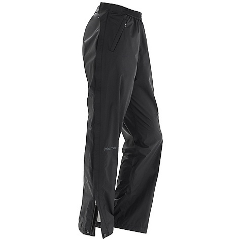 Free Shipping. Marmot Women's PreCip Full Zip Pant DECENT FEATURES of the Marmot Women's PreCip Full Zip Pant PreCip Dry Touch Technology, Waterproof/Breathable 100% Seam Taped Full Side Zips Zip Front Hand Pockets The SPECS Weight: 12.8 oz / 362.9 g Inseam: short: 30in., regular: 32in., long: 34in. Fit: Regular PreCip 2.5 100% Nylon Ripstop 2.7oz/yd - $94.95