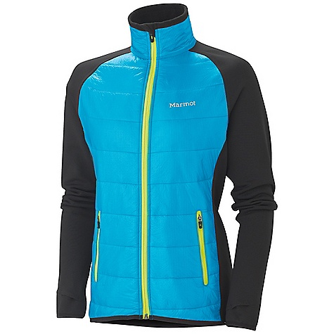Free Shipping. Marmot Women's Variant Jacket DECENT FEATURES of the Marmot Women's Variant Jacket Full Zip Jacket with Thermal R Eco insulation at Front Body Polartec Power Stretch Panels at Side Torso, Sleeves and Back Thumbholes Lightweight Stretch Binding at Cuffs and Bottom Hem Front Hand Zip Pockets, Reflective Logos Athletic Fit The SPECS Weight: 10.4 oz / 295 g Center Back Length: Medium: 25 1/2in. Materials: 100% Nylon Ripstop DWR 0.8 oz/yd, Polartec Power Stretch 88% Polyester, 12% Elastane 6.8 oz/yd, Insulation: Thermal R Eco - $169.95