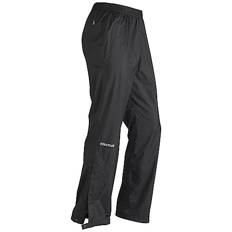 Free Shipping. Marmot Men's Essence Pant DECENT FEATURES of the Marmot Men's Essence Pant Superlight 12 Denier Marmot MemBrain 2.5 Waterproof/Breathable Fabric Micro-Stitched and 100% Seam Taped Elastic Waist with Draw Cord Zippered Back Pocket Articulated Knees Ankle Zippers The SPECS Weight: 5 oz / 141.7 g Material: MemBrain Strata 100% Nylon Ripstop 1.6 oz/yd Fit: Athletic - $129.95