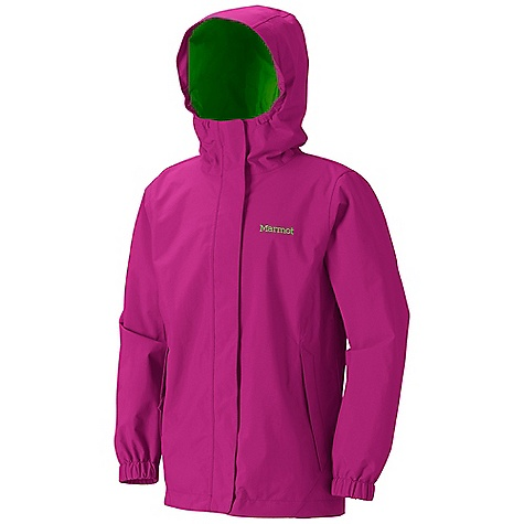 Free Shipping. Marmot Girls' Storm Shield Jacket DECENT FEATURES of the Marmot Girls' Storm Shield Jacket 2L PreCip Waterproof/Breathable Fabric 100% Seam Taped Fully Lined with Taffeta Zippered Hand Pockets Double Storm Flap Over Zipper with Snap/ Velcro Closure The SPECS Weight: 11.9 oz / 337.4 g Material: PreCip 100% Nylon 4.6 oz/yd Center Back Length: 22.75in. Fit: Regular - $64.95