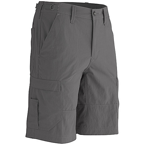 Free Shipping. Marmot Men's Bastille Short DECENT FEATURES of the Marmot Men's Bastille Short Ultraviolet Protection Factor (UPF) 30 Soft, Breathable, Mid Weight Performance Woven Fabric with a Cotton Hand Quick-Drying Gusseted Crotch for Increased Mobility Adjustable Waist Front Pockets and Secure Side Pocket with Zip Closure Brushed Tricot Interior Waistband Garment Washed for Soft Hand The SPECS Weight: 11.64 oz / 330 g Fit: Loose Fit Inseam: 11in. Material: 100% Nylon 6.05 oz/yd - $70.00