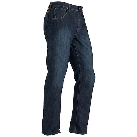 Free Shipping. Marmot Men's Pipeline Jean - Regular Fit FEATURES of the Marmot Men's Pipeline Jean - Regular Fit Coolmax Ultraviolet Protection Factor (UPF) 50 Moisture management and Breathability Stretch for Increased mobility 5 Pocket Back Pockets are Reinforced for Durability Dark Indigo Denim with light hand Sanding Straight leg Cut - $84.95