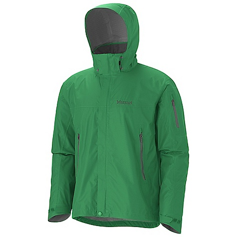 Free Shipping. Marmot Men's Aegis Jacket DECENT FEATURES of the Marmot Men's Aegis Jacket Marmot MemBrain Strata Waterproof / Breathable Fabric 100% Seam Taped Attached Adjustable Hood that Rolls Into Collar PitZips Handwarmer Pockets with Water Resistant Zipper Sleeve Pocket with Water-resistant Zipper Dri-Clime Lined Cuffs with Adjustable Velcro Tabs Dri-Clime Lined Collar and Chin Guard Elastic Draw Cord Hem Angel-Wing Movement The SPECS Weight: 13.4 oz / 379.9 g Center Back Length: 28.75in. Fit: Regular MemBrain Strata 100% Nylon Ripstop 3.0 oz/yd - $164.95