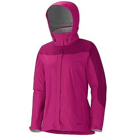 Free Shipping. Marmot Women's Oracle Jacket DECENT FEATURES of the Marmot Women's Oracle Jacket Marmot MemBrain Strata Waterproof/Breathable Fabric 100% Seam Taped PitZips Hand Pockets Zip-Off Hood Stretch Anatomic Articulation DriClime Lined Collar and Chin Guard DriClime Lined Cuff Elastic Draw Cord Hem Angel-Wing Movement The SPECS Weight: 14.3 oz / 405.4 g Material: MemBrain Strata 100% Nylon Ripstop 3.0 oz/yd MemBrain Strata 100% Nylon Stretch 3.8 oz/yd Center Back Length: 27.5in. Fit: Regular - $184.95