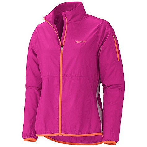 Camp and Hike On Sale. Free Shipping. Marmot Women's Trail Wind Jacket DECENT FEATURES of the Marmot Women's Trail Wind Jacket Wind Resistant, Water Repellent, and Breathable Ultra Light Construction Zip Sleeve Pocket Active Venting Lycra Bond Cuffs Reflective Logos Lycra Bound Hem Angel-Wing Movement The SPECS Weight: 3.4 oz / 96.4 g Material: 100% Polyester DWR 1.5 oz/yd Center Back Length: 26in. Fit: Regular - $59.96