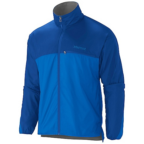 Free Shipping. Marmot Men's DriClime Windshirt DECENT FEATURES of the Marmot Men's DriClime Windshirt Wind Resistant, Water Repellent, and Breathable DriClime Bi-Component Wicking Lining Mesh Pit Vents Zippered Chest Pocket DriClime Lined Collar and Chin Guard Wind Flap Behind Front Zipper Elastic Cuffs Angel-Wing Movement The SPECS Weight: 8.8 oz / 249.5 g Material: 100% Polyester DWR 1.5 oz/yd Center Back Length: 28.5in. Fit: Regular - $94.95