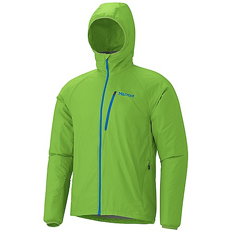 Free Shipping. Marmot Men's Ether DriClime Jacket DECENT FEATURES of the Marmot Men's Ether DriClime Jacket Wind Resistant, Water Repellent, and Breathable Ultra Light Construction DriClime Bi-Component Wicking Lining Attached Roll-Up Hood Zip Chest Pocket Packs into Pocket Mesh Underarm Vents Elastic Cuffs Reflective Logos Elastic Draw Cord Hem Angel-Wing Movement The SPECS Weight: 8.8 oz / 249.5 g Material: 100% Nylon DWR 1.1 oz/yd Center Back Length: 28.5in. Fit: Athletic - $114.95