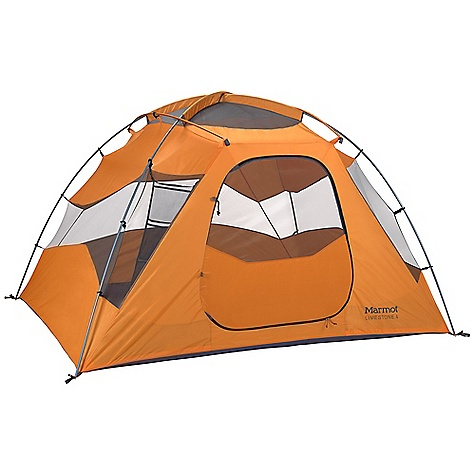 Camp and Hike Free Shipping. Marmot Limestone 4 Person Tent DECENT FEATURES of the Marmot Limestone 4 Person Tent Door Mat and Hanging Organizer Included Full Coverage Fly Heavyweight Oxford 150 Denier Floor One D Shaped Door, One Vestibule DAC DA17 Poles Fully Taped Fly and Canopy Floor Multiple Fly Vents for Moisture Dissipation Reflective Guy Out Points Window Weld The SPECS Capacity: 4 Person Floor Area: 60 square feet / 5.6 square meter Minimum Weight: 10 lbs 15 oz / 4960 g Pack Weight: 11 lbs 12 oz / 5330 g Dimension: (H x W x L): 60 x 86 x 100in. / 150 x 218 x 254 cm Floor: 150d 100% Nylon Oxford, 3000mm, W/R, F/R Vestibule Area: 18.45 square feet / 1.7 square meter Packed Size: 27.5 x 10in. / 70 x 26 cm Number/Pole Type: 4 / DAC DA17 12mm Fly: 68d 100% Polyester Ripstop 1800mm, W/R, F/R Canopy: 40d 100% Polyester No-See-Um Mesh F/R 70d 100% Polyester Taffeta F/R - $338.95
