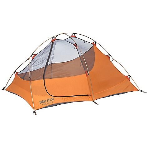 Camp and Hike Free Shipping. Marmot Twilight 2 Person Tent DECENT FEATURES of the Marmot Twilight 2 Person Tent Gear Loft and Footprint Included DAC Featherlite 8.84mm Full Coverage Fly Two Doors / Two Vestibules Fly Vent for Moisture Dissipation Bare Bones Setup Catenary Cut Floor Jingle-Free Nylon Zipper Pulls Light-Reflective Points Snag-Free Zipper Flap Window Weld The SPECS Capacity: 2 Person Floor Area: 34 square feet / 3.2 square meter Minimum Weight: 5 lbs 4 oz / 2380 g Pack Weight: 5 lbs 9 oz / 2520 g Bare Bones Weight: 3 lbs 14 oz / 1760 g Dimension: (H x W x L): 40 x 60 x 88in. / 102 x 152 x 224 cm Vestibule Area: 10.5 square feet / 1.0 square meter, 10.5 square feet / 1.0 square meter Packed Size: 17 x 7in. / 43 x 18 cm Number/Pole Type: 2 / DAC FeatherLite 8.84 mm Fly: 68d 100% Polyester Ripstop 1800mm, W/R, F/R Canopy: 68d 100% Polyester Ripstop,F/R / 40d 100% Polyester No-See-Um Mesh F/R Floor: 70d 100% Nylon PU 3000mm W/R, F/R - $268.95