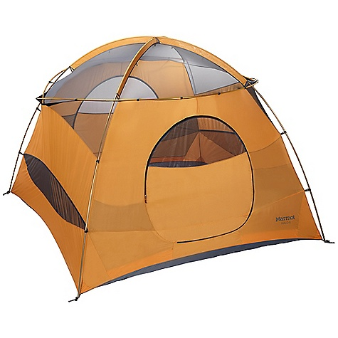Camp and Hike Free Shipping. Marmot Halo 6P - 6 Person Tent DECENT FEATURES of the Marmot Halo 6P - 6 Person Tent DAC DA17 Poles Zip Open / Close Canopy Panels Full Coverage Fly Two Doors / Two Vestibules Fully Seam Taped Fly Fly Vent for Moisture Dissipation Ground - level Side Vents Inside Pockets Optional Footprint The SPECS Capacity: 6 Person Floor Area: 100 square feet / 9.3 square meter Minimum Weight: 18 lbs 15 oz / 8590 g Pack Weight: 19 lbs 7 oz / 8820 g Dimension: (H x W x L): 81 x 120 x 120in. / 206 x 305 x 305 cm Vestibule Area: 32 square feet / 3.0 square meter, 32 square feet / 3.0 square meter Packed Size: 25 x 14in. / 64 x 36 cm Number/Pole Type: 4 / DAC DA17 12mm Fly: 68d 100% Polyester Ripstop 1800mm, W/R, F/R Canopy: 68d 100% Polyester Ripstop,F/R / 40d 100% Polyester No-See-Um Mesh F/R Floor: 70d 100% Nylon PU 3000mm W/R, F/R - $528.95
