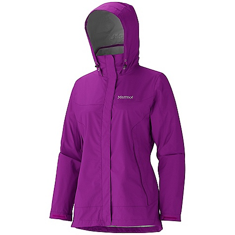Free Shipping. Marmot Women's Phoenix Jacket DECENT FEATURES of the Marmot Women's Phoenix Jacket PreCip Dry Touch Technology, Waterproof/ Breathable 100% Seam Taped PitZips Single Outer Flap Attached Hood and Collar Combo Hand Pockets Elastic Draw Cord Hem DriClime Lined Collar and Chin Guard Angel-Wing Movement The SPECS Weight: 13 oz / 368.5 g Material: PreCip 2.5 100% Nylon Ripstop 3.4 oz/yd Center Back Length: 28in. Fit: Regular - $144.95